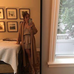 Solemio Nude Peplum Dress